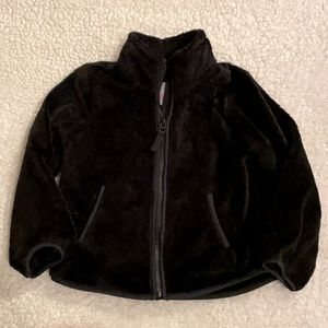 Childrens Place Boy Sz 3T Black Fleece Jacket